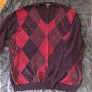 Tasso Elba Argyle front Cotton Sweater